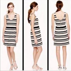 J Crew Cream And Black Striped Dress Small